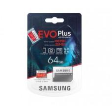 Карта памяти MicroSDXC 64Gb 10class Samsung EVO Plus